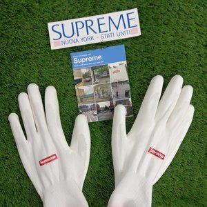 SUPREME bundle- rubberized gloves and stickers